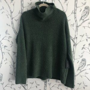 RACHEL ZOE Boucle Oversized Turtleneck Sweater L
